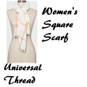 NWT Women's Striped Square Scarf Universal Thread